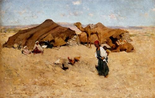 Arab Encampment, Biskra - Willard Metcalf