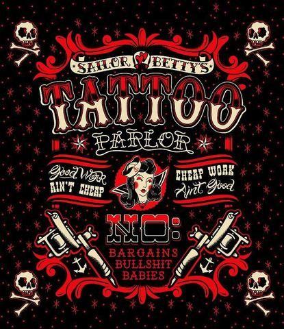 Sailor Betty Tattoo Shower Curtain