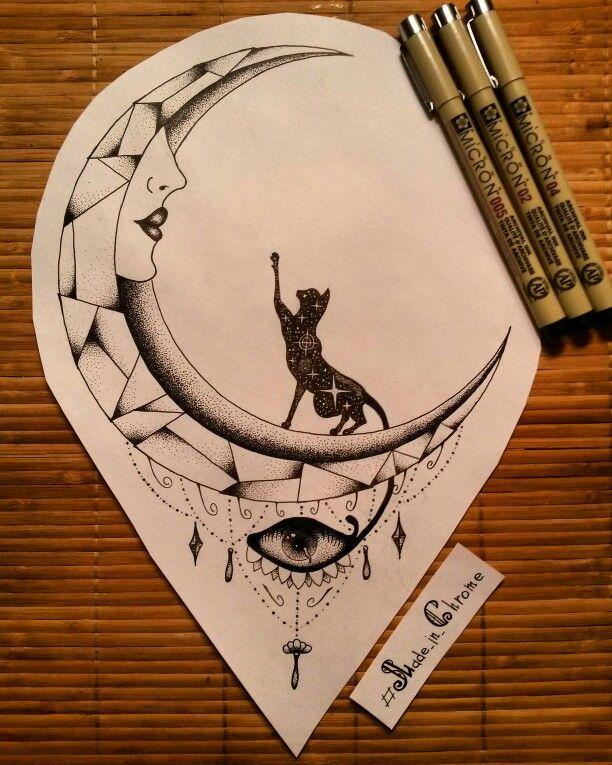 The High Moon for Zarynya is ready! Приходи, забирай ;) #darkartists #dotwork…