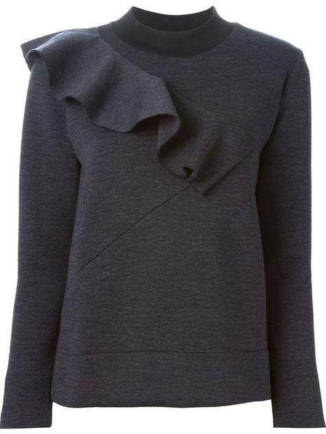Marni ruffle detail sweater