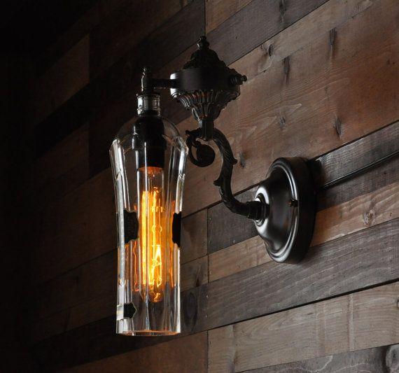 Recycling Flasche Lampe  St. Germain Wandlampe von MoonshineLamp