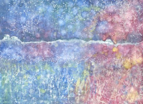 "This painting, ""Tumpty Tum,"" was made by Iris Grace, a 5-year-old autistic girl in the UK, and it's gorgeous. Her prints are available through irisgracepainting.com and in so many colors. Proceeds of the sale of the prints go toward Iris's treatments and her art supplies. And it would look gorgeous over the fireplace."