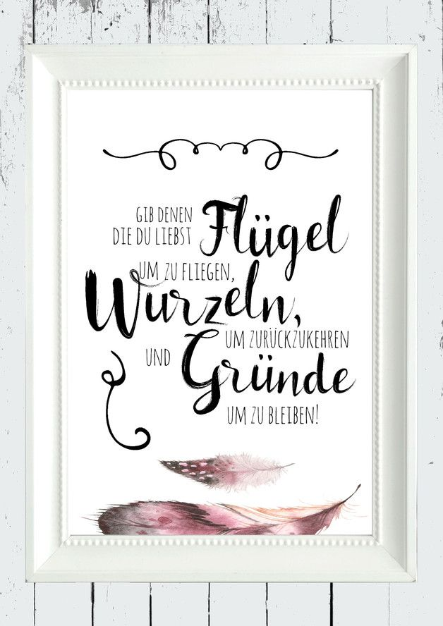 Poster mit weisem Fruch über Freundschaft, Wandgestaltung / poster with wise saying about friendship, wall decor made by homestyle-accessoires via DaWanda.com