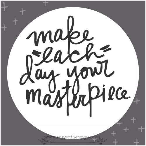 In this 38th Week of 2015 - find some inspiration.... No Picasso? You need not be, make the most of each day then! Good luck for the week ahead. &nb