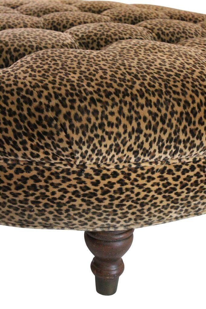 Leopard Print Ottoman on Chairish.com