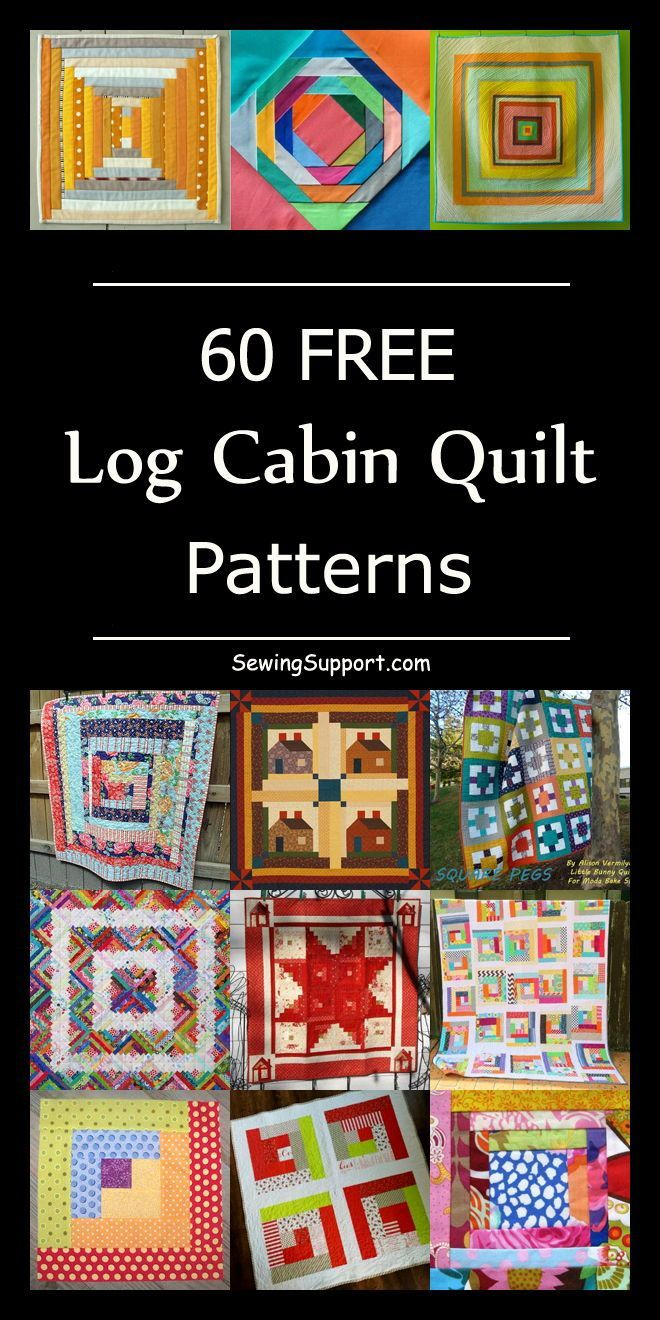 60 Free Log Cabin Quilt Patterns – #Cabin #free #L…