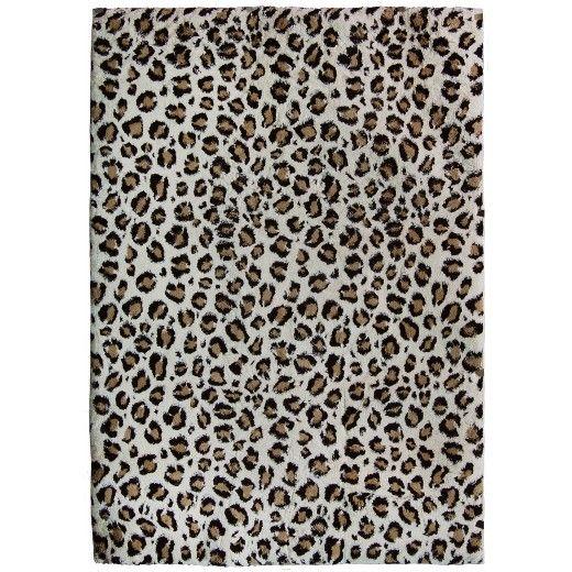 Snow Leopard Carolina Fleece Area Rug - Orian : Target