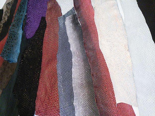 Fish leather from Iceland. Kalannahkoja Islannista. www.pisadesign.fi