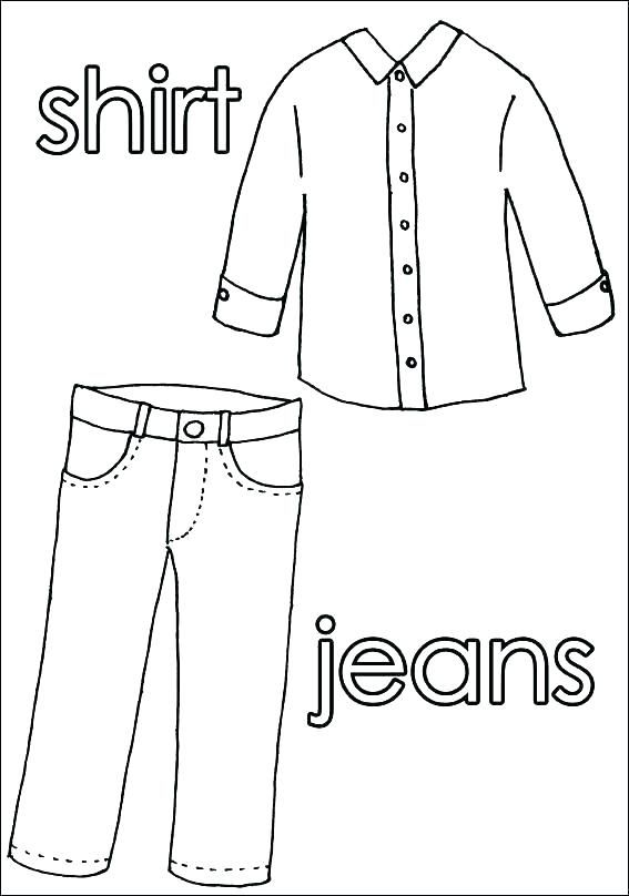 Shirt And Pants Coloring Pages Clothes Worksheet Clothes Shirts