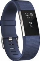 Fitbit - Charge 2 Activity Tracker + Heart Rate (Small) - Blue Silver - Angle Zoom