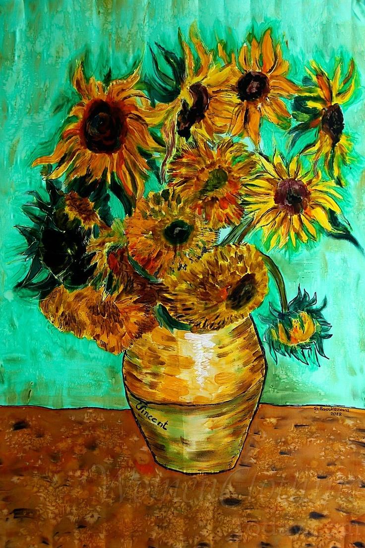 Silk Painting- Sunflowers