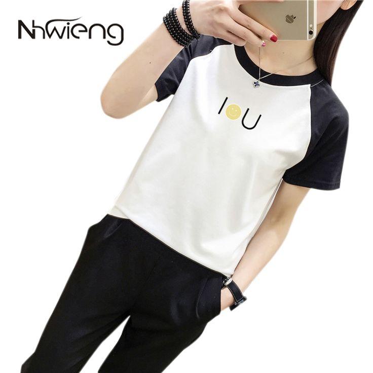 >> Click to Buy << Summer White Black Korean Tops Women Blouse Short raglan Sleeve Letter Smile Face Print Shirt Female Casual Basic Preppy Shirts #Affiliate