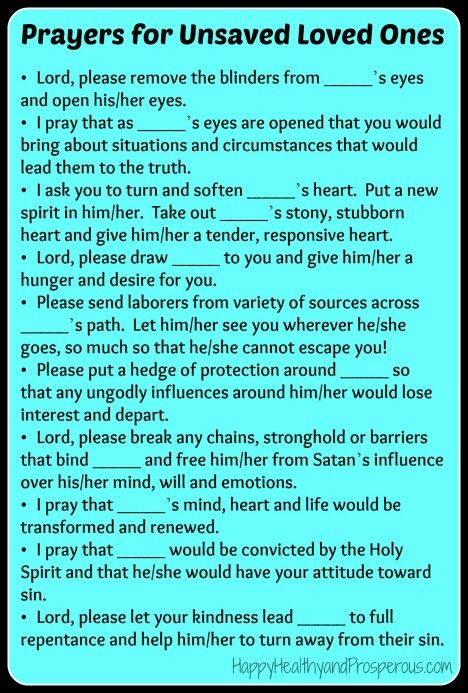 How to Pray for Unsaved Loved Ones