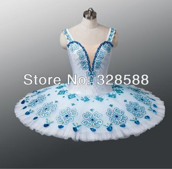 """ballet stage tutu white and blue color, can be applied to """"The Daughter of the Pharaoh"""" , """"La Fille du Pharaon""""  EM---A1121"""