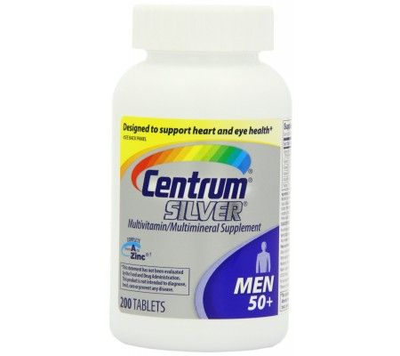 Centrum  Silver Ultra Mens Multivitamin Supplement Tablets - 200 ea.  Multivitamin/Multimineral Supplement. Designed to support heart (not a replacement for cholesterol-lowering drugs) and eye health (Contains vitamins B6, B12 and folic acid for heart health and vitamins A, C, E and lutein [This product is not intended to provide daily intake of lutein. Take with a diet rich in fruits and vegetables.] to help support healthy eyesight.). Complete from A to zinc (refers to all nutrients with…