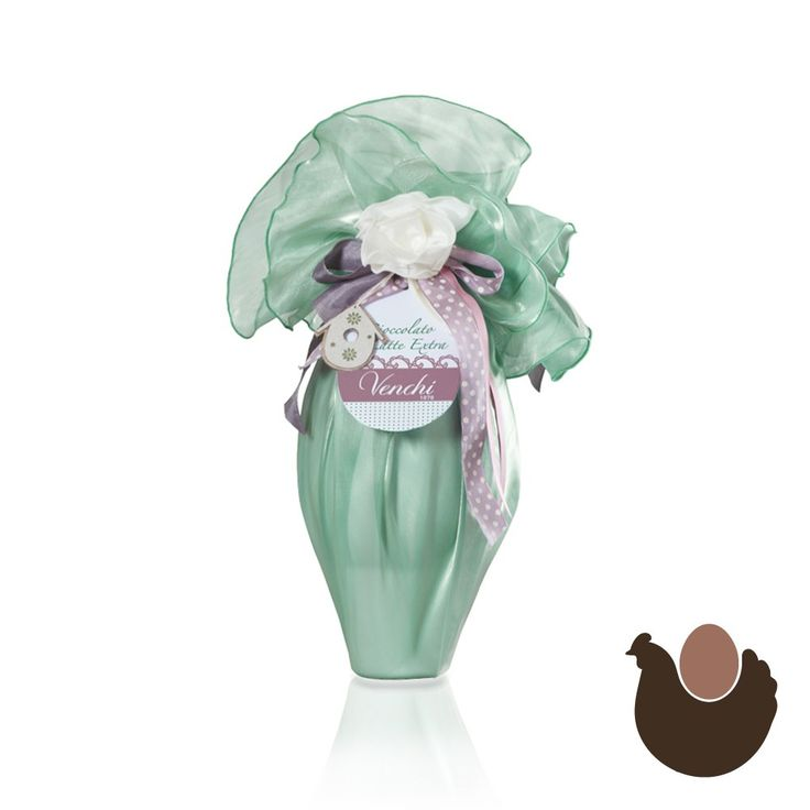 Green Mother-of-Pearl Organza Egg Milk chocolate 500g