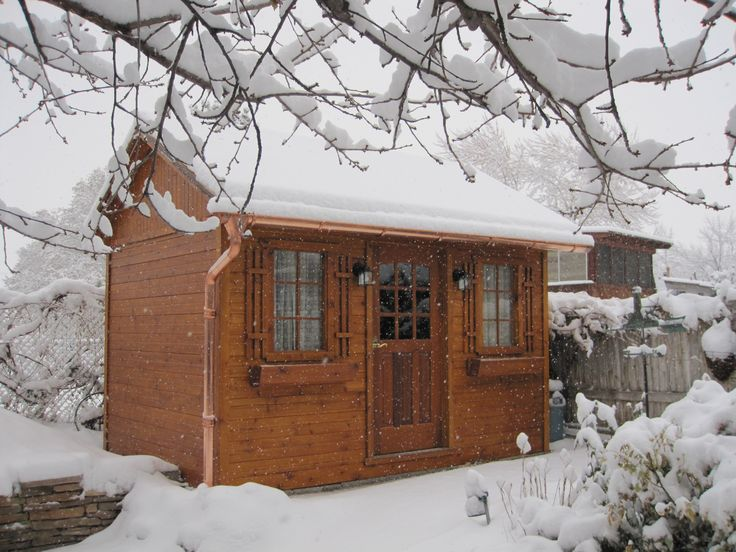 this palmerston garden shed makes this winter more beautiful