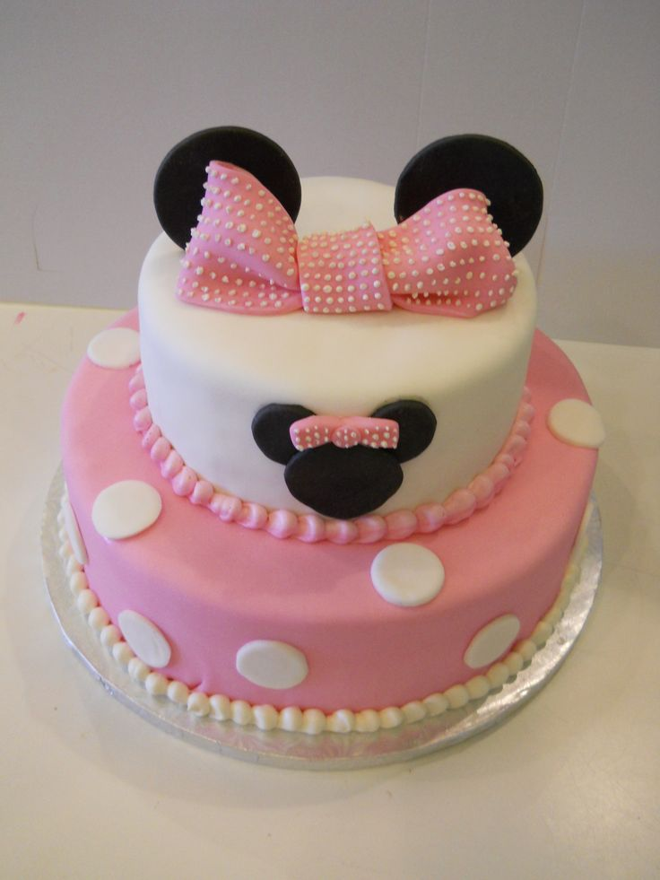 Mini Mouse Tiered Cake Birthday