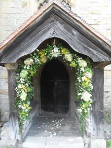 Full scented floral arch, East Sussex wedding