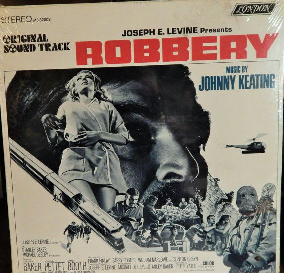 "ROBBERY 12"" Vinyl LP Original Soundtrack (1967 music Johnny Keating) Stanley Baker, Joanna Pettet, James Booth; Collectible Item"