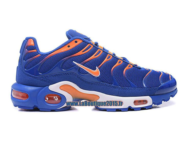 Nike Air Max Tn/Tuned Requin 2016 - Chaussures Nike Tn Pas Cher Pour Homme Bleu royal/Orange total/Blanc 604133-801