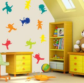 Jumping Children wall sticker #cute #cool #wallstickers #wallart #party #kidsroom #childrensroom http://www.abodewallart.co.uk/wall-stickers/Jumping-Kids-Set.html