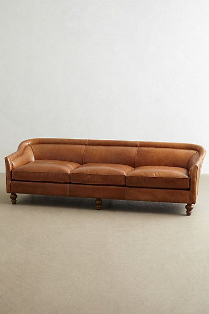 Leather Holloway Sofa #anthropologie