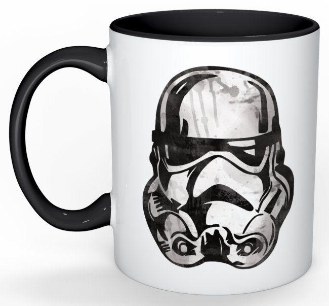 Stormtrooper Watercolor Mug by OrangePeelPaperie on Etsy