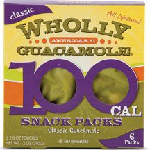 Wholly Guacamole 100 Calorie Snack Packs:  the carbs will be from the peppers and onions, and are fine. (Walmart; Costco)