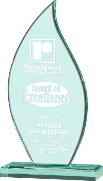 Jade Flame Acrylic Award