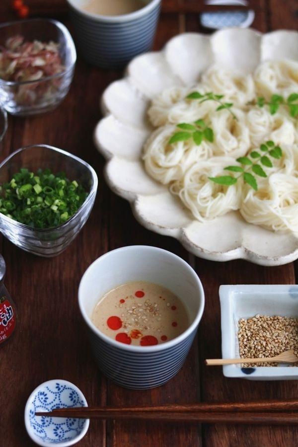豆乳ごまだれのピリ辛そうめん。 by 栁川かおり | レシピサイト「Nadia ...