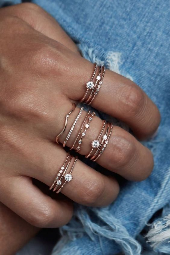 Jewellery   Rings   Glamorous   Denim   Subtle jew…