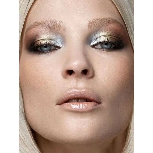 Hot Fall/Winter Makeup Trend Metallic Eyes fashionsy.com ❤ liked on Polyvore featuring beauty products, makeup, eye makeup and metallic eye makeup