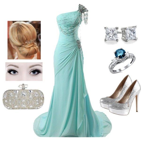 """Elegant Turquoise"" by teodoramaria98 on Polyvore"