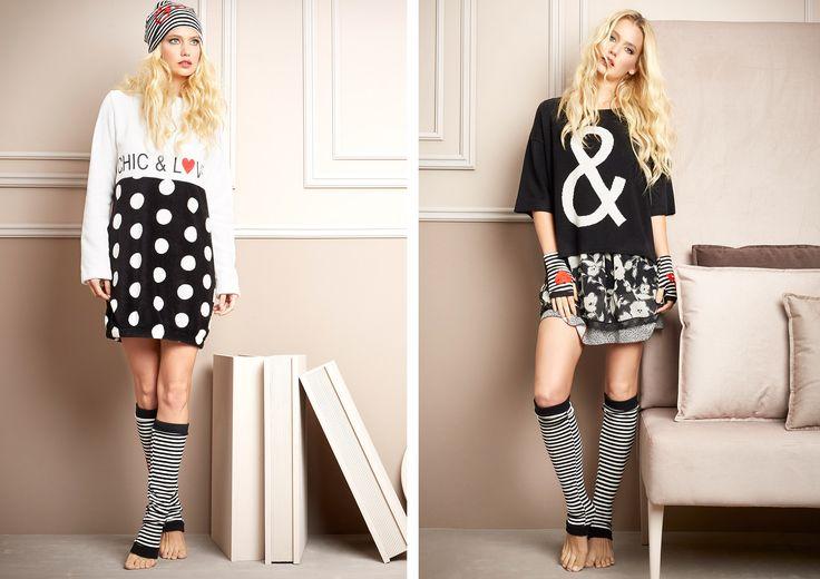 Pepita - Home & Sleepwear FW 2016/17 Shop by look: Abito in pelliccetta https://shop.pepitastyle.com/it/fall-winter-2016-17/410-abito-in-pelliccetta-con-stampa-chic-love.html Maglia poncho https://shop.pepitastyle.com/it/fall-winter-2016-17/432-maglia-a-poncho-con-intarsio.html Canotta https://shop.pepitastyle.com/it/fall-winter-2016-17/439-canotta-in-chiffon-stampata-a-motivo-floreale.html