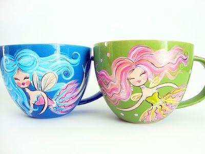 Denise Loves Art: New Hand Painted Glassware Designs