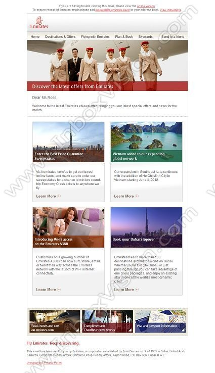 Best Email Design Airlines Images On   Email Design