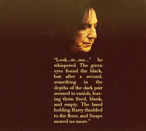 :( and at this moment, i fell in love with Snape. after all the times of getting upset about his actions and throwing the sixth book after i found out what he did, this part changed everything.