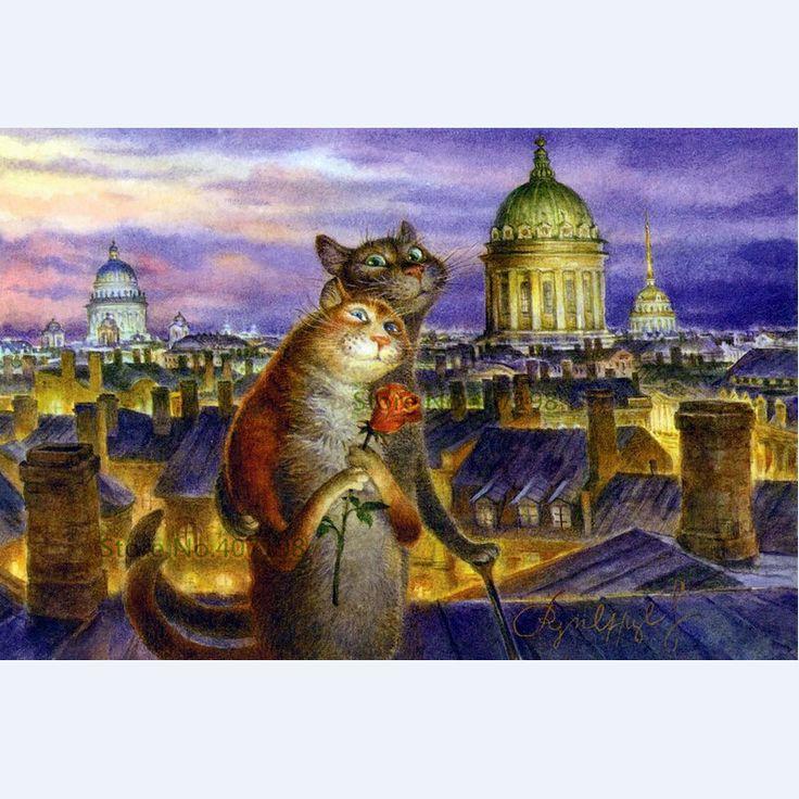 Алмаз Живопись поделок кошек вышивка животных любит крестом Кристалл площади домой декоративной Рукоделие поделки картина