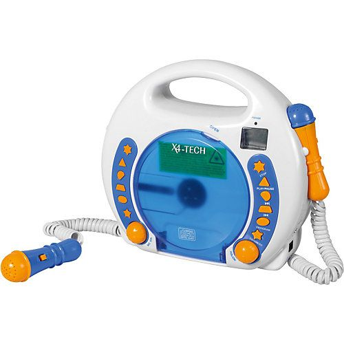 Great Kinder CD Player Bobby Joey inkl MP Blau