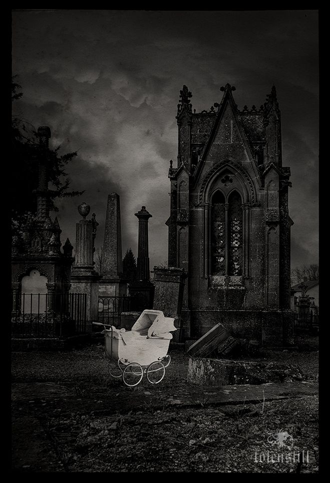 Gothic, Cemetery, Collage