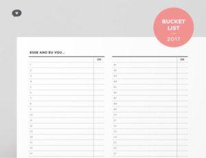 Planner 2017 Bucket List | Não Me Mande Flores