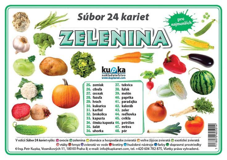 Precvičovacie karty - Zelenina - SK verzia   Nomiland.sk - obchod pre deti a materské školy