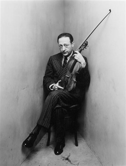 Jascha Heifetz, New York, by Irving Penn