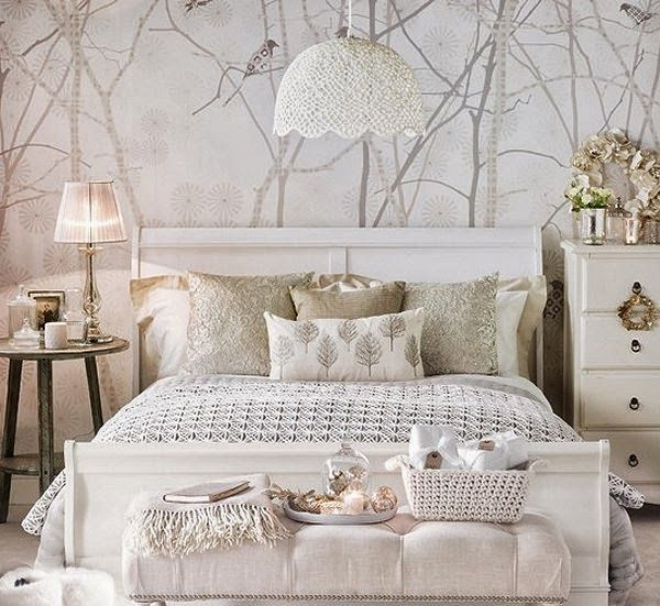 Sophia's bedroom idea...white bedroom decorating snow queen style