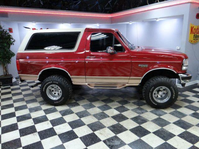 Ford Bronco Eddie Bauer 4x4 5 8 V8 Rust Free Florida Truck Lift