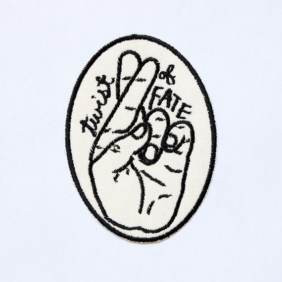 Hey, I found this really awesome Etsy listing at https://www.etsy.com/listing/211625745/twist-of-fate-patch-embroidered-badge