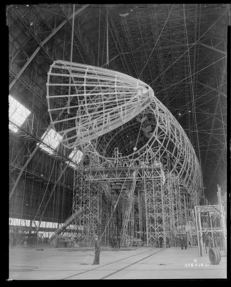 USS Akron et Macon : construction de dirigeables porte avions  construction dirigeable USS Akron porte avion 25 technologie photo information histoire featured