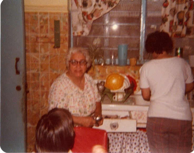 A faded out of focus picture, but one of my most prized possesions. My buelita Sarita, as we called her. In her kitchen