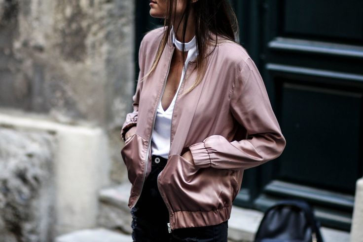 blog mode bomber rose satiné missguided